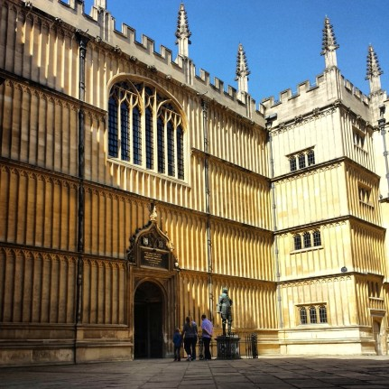 The outside of the Bodleian Library