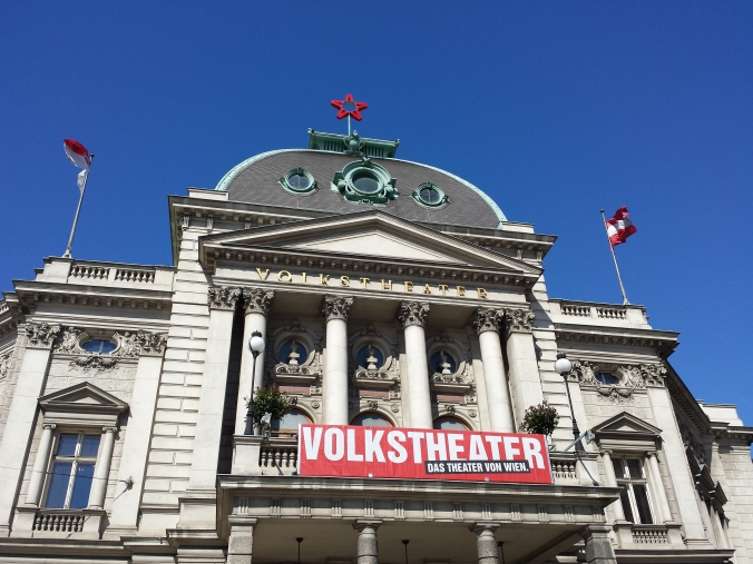 Here you can see the Volkstheater, which was built by request of the citizens of Vienna