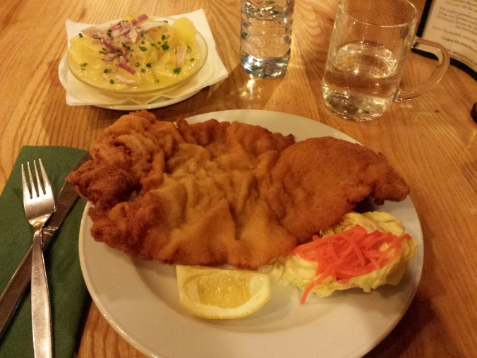 Wiener Schnitzel served with Potato salad
